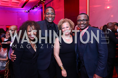 Gina Adams, Andre Wells, Debra Lee, Robert Battle. Photo by Tony Powell. 2017 Alvin Ailey DC Gala. Kennedy Center. February 7, 2017
