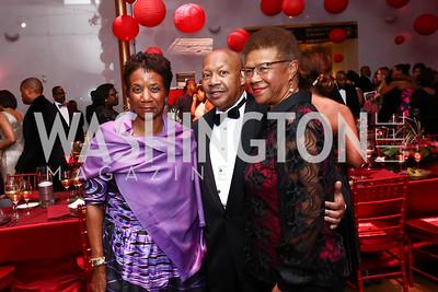 Beatrice Welters, Alphonso Jackson, Thelma Duggin. Photo by Tony Powell. 2017 Alvin Ailey DC Gala. Kennedy Center. February 7, 2017