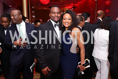 Dallas Harrell and Linda-Denise Fisher-Harrell. Photo by Tony Powell. 2017 Alvin Ailey DC Gala. Kennedy Center. February 7, 2017