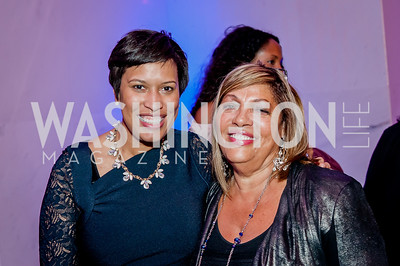 DC Mayor Muriel Bowser, Marcella Jones. Photo by Tony Powell. 2017 Alvin Ailey DC Gala. Kennedy Center. February 7, 2017