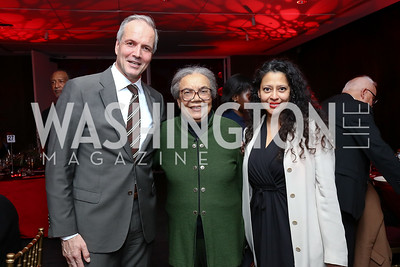 Michael Werz, Marian Wright Edelman, Helga Flores. Photo by Tony Powell. 2017 Alvin Ailey DC Gala. Kennedy Center. February 7, 2017