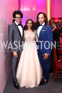 Aaron Walton, Laura Charity, Paul Wharton. Photo by Tony Powell. 2017 Alvin Ailey DC Gala. Kennedy Center. February 7, 2017