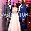 Aaron Walton, Laura Charity, Paul Wharton. Photo by Tony Powell. 2017 Alvin Ailey DC Gala. Kennedy Center. February 7, 2017