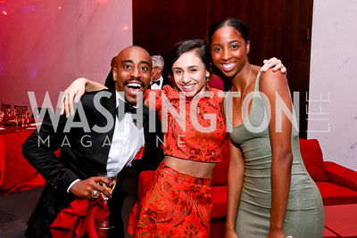 Renaldo Maurice, Danica Paulos, Ashley Mayeux. Photo by Tony Powell. 2017 Alvin Ailey DC Gala. Kennedy Center. February 7, 2017