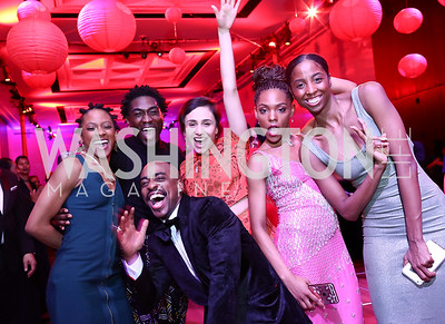 Ailey dancers Jacquelin Harris, Chalvar Monteiro, Renaldo Maurice, Danica Paulos, Samantha Figggins, and Ashley Mayeux. Photo by Tony Powell. 2017 Alvin Ailey DC Gala. Kennedy Center. February 7, 2017