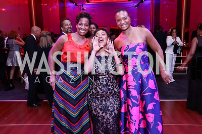Patrice Webb, Tiffany Cross, Yvonne Williams. Photo by Tony Powell. 2017 Alvin Ailey DC Gala. Kennedy Center. February 7, 2017