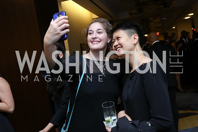 Ali Tobolsky, Regina Lam. Photo by Tony Powell. 2017 Ambassadors Ball. Marriott Marquis. October 12, 2017
