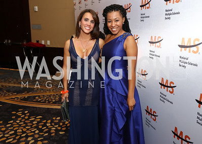 Cristina Antelo, Erica Loewe. Photo by Tony Powell. 2017 Ambassadors Ball. Marriott Marquis. October 12, 2017