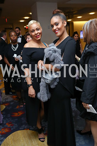Bobbi Majors, Tennille Moss. Photo by Tony Powell. 2017 Ambassadors Ball. Marriott Marquis. October 12, 2017
