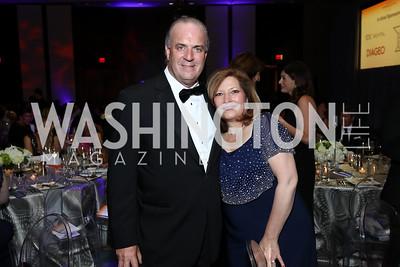Rep. Dan Kildee and Jennifer Kildee. Photo by Tony Powell. 2017 Ambassadors Ball. Marriott Marquis. October 12, 2017