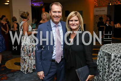 Sam Lancaster, Melissa Mayfield. Photo by Tony Powell. 2017 Ambassadors Ball. Marriott Marquis. October 12, 2017