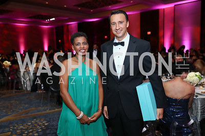 Rep. Donna Edwards and Rep. Ryan Costello. Photo by Tony Powell. 2017 Ambassadors Ball. Marriott Marquis. October 12, 2017