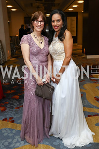 Chartese Berry, National MS Society CEO Cyndi Zagieboylo. Photo by Tony Powell. 2017 Ambassadors Ball. Marriott Marquis. October 12, 2017