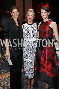 Lala Abdurahimova, Jessica Hogle, Natalie Jones. Photo by Tony Powell. 2017 Ambassadors Ball. Marriott Marquis. October 12, 2017