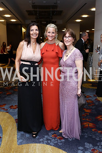 Micaela Varricchio, Carrie Marriott, National MS Society CEO Cyndi Zagieboylo. Photo by Tony Powell. 2017 Ambassadors Ball. Marriott Marquis. October 12, 2017