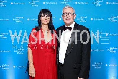 Anita Dahinden and Switzerland Amb. Martin Dahinden. Photo by Tony Powell. 2017 American Portrait Gala. November 19, 2017