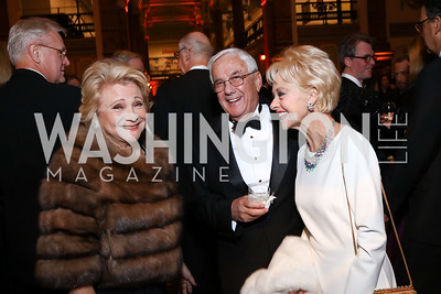 Mary Mochary, Climis and Carol Lascaris. Photo by Tony Powell. 2017 American Portrait Gala. November 19, 2017