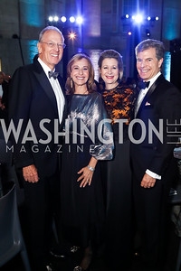 Jeffrey and Randi Levine, Christie and Jeff Weiss. Photo by Tony Powell. 2017 American Portrait Gala. November 19, 2017