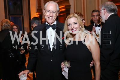 George Vradenburg, Christine Keefer. Photo by Tony Powell. 2017 American Portrait Gala. November 19, 2017