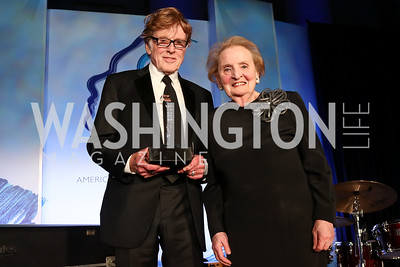 Robert Redford, Honoree Madeleine Albright. Photo by Tony Powell. 2017 American Portrait Gala. November 19, 2017