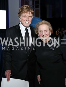 Robert Redford, Honoree Madeleine Albright. Photo by Tony Powell. 2017 American Portrait Gala. November 19, 2017