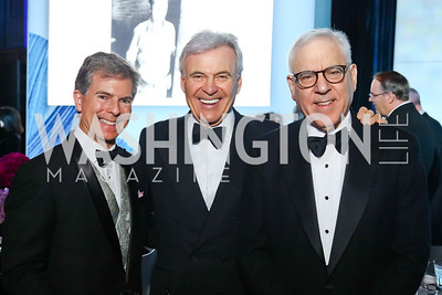 Jeff Weiss, Stuart Bernstein, David Rubenstein. Photo by Tony Powell. 2017 American Portrait Gala. November 19, 2017