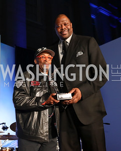 Honoree Spike Lee, Patrick Ewing. Photo by Tony Powell. 2017 American Portrait Gala. November 19, 2017