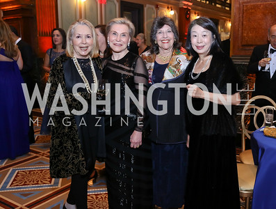 Gilan Corn, Jeanne Ruesch, Carol Schwartz, Nobuko Sasae. Photo by Tony Powell. 2017 American Portrait Gala. November 19, 2017