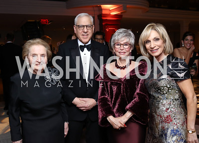 Honoree Madeleine Albright, David Rubenstein, Honoree Rita Moreno, Andrea Mitchel. Photo by Tony Powell. 2017 American Portrait Gala. November 19, 2017