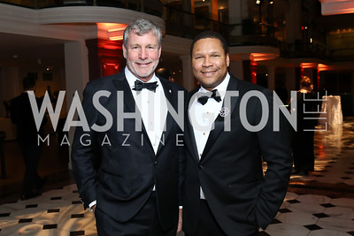 Donald Capoccia, Tom Pegues. Photo by Tony Powell. 2017 American Portrait Gala. November 19, 2017