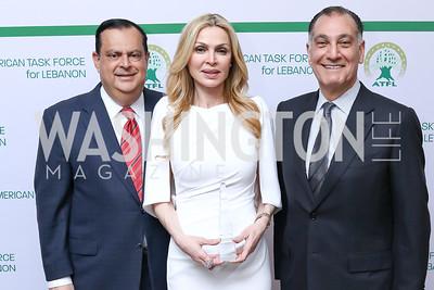 Ed Gabriel, Rima Al-Sabah, Spencer Abraham. Photo by Tony Powell. 2017 ATFL Gala Awards Dinner. Fairmont Hotel. March 22, 2017
