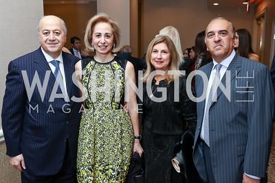 Habib and Hind Debs, Fariba and Reza Jahanbani. Photo by Tony Powell. 2017 ATFL Gala Awards Dinner. Fairmont Hotel. March 22, 2017