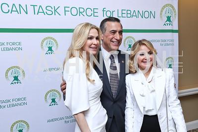 Rima Al-Sabah, Darrell Issa, Carmen Debbane. Photo by Tony Powell. 2017 ATFL Gala Awards Dinner. Fairmont Hotel. March 22, 2017