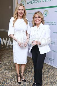 Honorees Rima Al-Sabah and Carmen Debbane. Photo by Tony Powell. 2017 ATFL Gala Awards Dinner. Fairmont Hotel. March 22, 2017