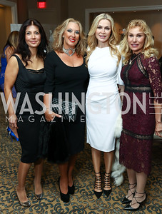 Cindy Marat, Rima Otrakji, Rima Al-Sabah, Sandy Tamer. Photo by Tony Powell. 2017 ATFL Gala Awards Dinner. Fairmont Hotel. March 22, 2017