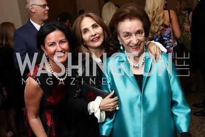 Rim Abboud, Samia Farouki, Lucky Roosevelt. Photo by Tony Powell. 2017 ATFL Gala Awards Dinner. Fairmont Hotel. March 22, 2017