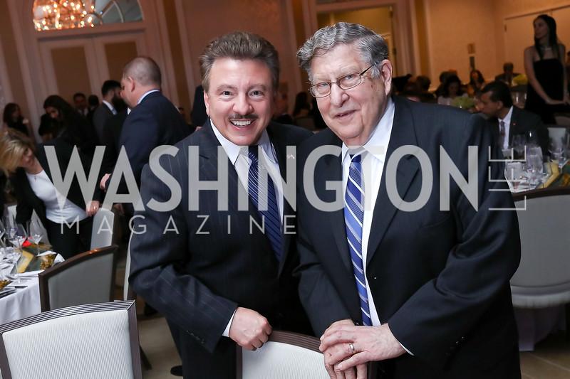 David Hamod, Former Gov. and WH Chief of Staff John Sununu. Photo by Tony Powell. 2017 ATFL Gala Awards Dinner. Fairmont Hotel. March 22, 2017