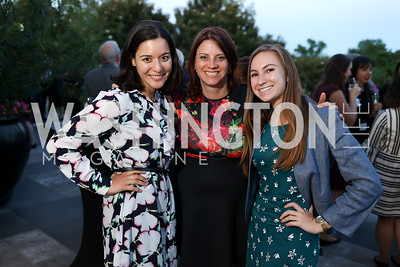 Mary Guido, Patricia Anderson, Katie Kenney. Photo by Tony Powell. Anja Niedringhaus Awards. Residence of Germany. June 8, 2017