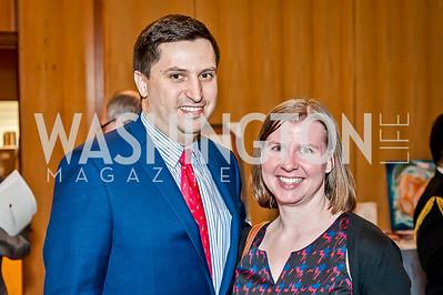 Daniel Klimow, Beth Finan. Photo by Tony Powell. 2017 Aschiana Foundation Gala. Residence of Japan. February 8, 2017
