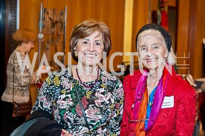 Patricia Silberman, Margaret Hoffman. Photo by Tony Powell. 2017 Aschiana Foundation Gala. Residence of Japan. February 8, 2017