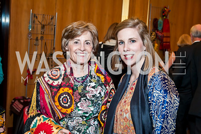 Patricia Silberman, Lael Mohib. Photo by Tony Powell. 2017 Aschiana Foundation Gala. Residence of Japan. February 8, 2017