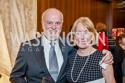 Richard and Sheridan Collins. Photo by Tony Powell. 2017 Aschiana Foundation Gala. Residence of Japan. February 8, 2017