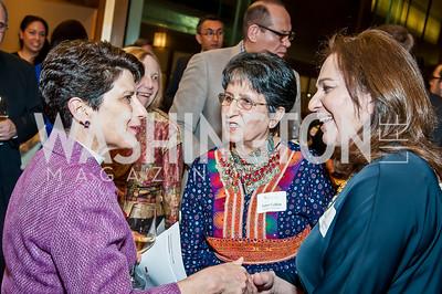 Kate Heichler, Sima Calkin, Sanya Younossi. Photo by Tony Powell. 2017 Aschiana Foundation Gala. Residence of Japan. February 8, 2017