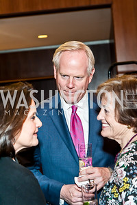 Anita and Tim McBride, Patricia Silberman. Photo by Tony Powell. 2017 Aschiana Foundation Gala. Residence of Japan. February 8, 2017