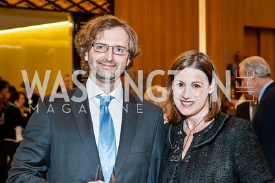 Frantisek Brabec, Heather Maher. Photo by Tony Powell. 2017 Aschiana Foundation Gala. Residence of Japan. February 8, 2017
