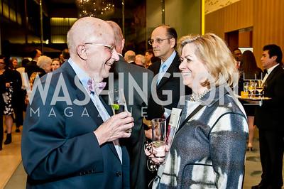 Lawrance Reger, Ann Hingston. Photo by Tony Powell. 2017 Aschiana Foundation Gala. Residence of Japan. February 8, 2017
