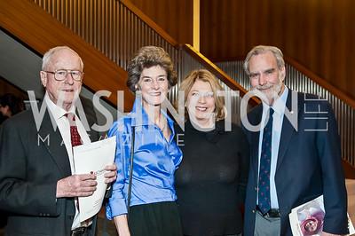 Frank Shoup, Anne Bryant, Barbara Gibian, Stephen Landrigan. Photo by Tony Powell. 2017 Aschiana Foundation Gala. Residence of Japan. February 8, 2017