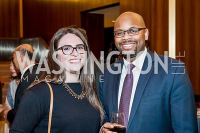 Lydia Cardona, Bradley Akubuiro. Photo by Tony Powell. 2017 Aschiana Foundation Gala. Residence of Japan. February 8, 2017