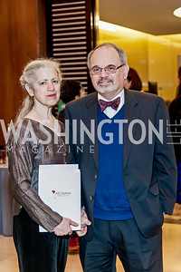 Nina and Daniel King. Photo by Tony Powell. 2017 Aschiana Foundation Gala. Residence of Japan. February 8, 2017