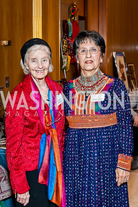 Margaret Hoffman, Sima Calkin. Photo by Tony Powell. 2017 Aschiana Foundation Gala. Residence of Japan. February 8, 2017